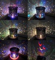 Wholesale New Colorful DreamlikeLED Sky Star Master Lights Projector Lamp Sound Asleep Night Bulb Christmas Night Lights