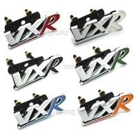 aluminum hoods - 100pcs Metal Red Black VXR Grill D Badges Emblem Hood Grill Mesh DHL free