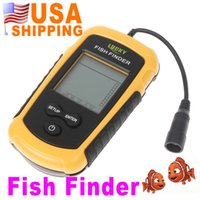 Wholesale US STOCK US Stock To USA CA m Portable Sonar Sensor Fish Finder Alarm Transducer UPS Dropshipping