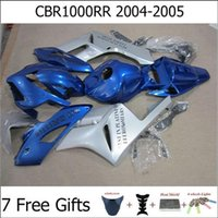 Wholesale For Honda CBR1000RR Motorcycle Fairing Kits Year CBR1000 RR Motorbike Cowl Blue Silver with Tank Free Gift