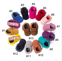 Wholesale Matte Handmade Tassels Soft Bottom Toddler Shoes Baby Shoes Baby Prewalker Baby Moccasins shoes Hot Sale