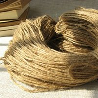 Wholesale Natural Hemp Rope mm x300m Jute pet tie for gift packing Jute rope hang tag rope DIY jute cord
