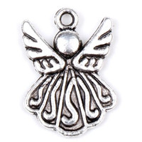 antiques - MIC x21mm Antique Silver Tone Flying Angel Charms Pendants Jewelry DIY