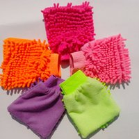 Wholesale Multifunction single Chenille Washing Gloves Soft Microfiber High Density Cleaning Gloves Car wash Dedicated For Christmas