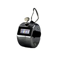 Wholesale Portable Hand Tally Counters Clicker Golf Chrome Metal Hoop Counter Digital Number