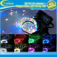 adapters colored lights - DC V m waterproof Multi Colored leds Copper Wire LED String light DC12V A Adapter