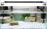aquarium led lighting - 25 LED Aquarium Light L W Blue And White Lights Fish Tank Lights W Clip Lamp In Black Color AC100 V DHL Free
