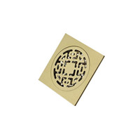 Wholesale Hot Sales Floor Drain Cover Square Grate Waste Shower Bathroom Accessory Antique Brass JA28