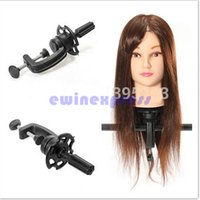 adjustable display stands - Adjustable Head Clamp Stand For Salon Hair Practise Hairdressing Head Mannequin Display Holder