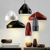 art ceramic - Modern Pendant Lamp Creative Ceramics Pendant Light Restaurant Industry Chandelier IKEA American Art Pottery Lamps E27 V V