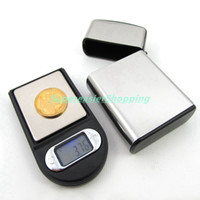 Wholesale 100g x g Mini Pocket Digital Scale Lighter Style Case LCD Display With CT GN G OZ DWT Units Scales in Retail Package LCD Display