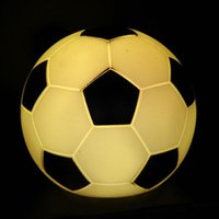 best quality party decoration - Colorful LED Football Night Light Top Quality Colors Changing Ball LED Night Light Mood Party Decoration Best Children s Gift for Sale