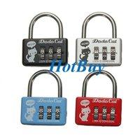 mini padlock - Mini Digit Number Luggage Suitcase Security Cable Lock Padlock
