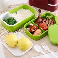 plastic food storage container - 2015 Microwave Oven Portable Plastic Bento Box Lunch Box Food Container Large Storage