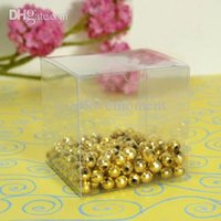 Wholesale New Arrivals High Quality cm cm cm Clear Wedding Favor Box Gift Candy Boxes Wedding Decoration