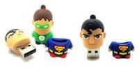 Wholesale Cute Creative USB Flash Drive Flash Disk Memory Card USB G G G available Various Designs Batman Superman Spiderman Captain America