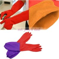 Wholesale Germ Waterproof Antiwater Fleece Inner Elastic Cuff Latex Cleaning Gloves Mitten