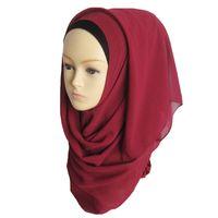 arab girls hijab - Women s Lady Girls Muslim Arab Decorative Head Wrap Headscarf Cap Sunblock Shawls Islamic Hijab Turban Solid Color