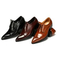 Wholesale 2014 New Designer Brand Italian Oxford Genuine Leather Mens Dress Skin Sneakers Pointed Toe Shoes bn8i