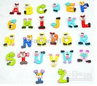 Wholesale Novelty Back To School A Z Alphabets Animal Design Kids Early Learning Wooden Fridge Magnet kids educa