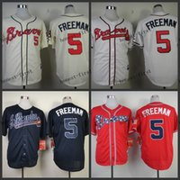 freeman - atlanta braves freddie freeman Cheap Wholesales Baseball Jersey Embroidery Name and Logo EME DHL