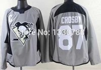 best sales practices - Factory Outlet Best Sale Cheap Top Quality Pittsburgh Penguins Jersey Sidney Crosby Gray Practice Team Premier Stitched Men s Ice