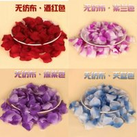 wedding rose petals cheap - Cheap Red Rose Wedding Petals piece multi color Flowers Favors Decoration For wedding Party Prom event Flowers Petals Garlands