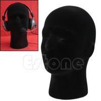 Wholesale On Sale PC Male Styrofoam Foam Mannequin Manikin Head Model Wigs Glasses Cap Display Stand