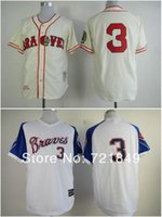 babe ruth - 2016 New Brand new cheap Atlanta Braves Jerseys Babe Ruth baseball Jersey throwback TB cream white whol