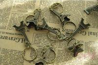 Metal souvenir keychain - Vintage D Paris Eiffel Tower keychain French souvenir paris Keychain Keyring Key Chain Ring