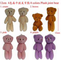 Wholesale 12cm Joint Bear Doll Plush Bear Cute Cell Accessories Mobile s Pendant