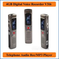 audio voice recorder online - Silver GB USB Digital Voice Recorder with MP3 Function USB High Speed and retail online Dictaphone Phone Audio VR316