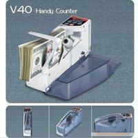 Wholesale Mini Portable Handy Bill Money Counter for most currency notes Counting Machine V40 financial equipment