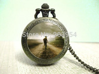 Wholesale The walking Dead USA America tv movie quartz pocket watches fashion jewelry pendant necklace new for mens