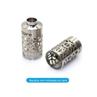Wholesale Aspire mini Nautilus assy pyrex glass tank stainless T window sleeve tube for ml aspire Nautilus mini replacement BVC coil atomizer