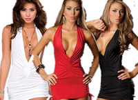 Wholesale Hot Sexy Women s Bandage Bodycon Dresses Lady Fashion V neck Backless Party Cocktail Dresses Sleeveless Night Club wear
