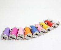 Wholesale Mini USB Car Charger Universal Adapter for iphone s plus Cell Phone PDA samsung s6 s5 s4 s3