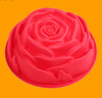 Wholesale Large rose type silicone cake mold can be into the oven high temperature resistant family silicone baking mold