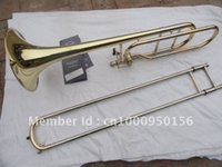 Wholesale Bach BO Senior Sandhi Tenor Trombone Imports Alloy Copper Surface Gold Bb Trombone Musical Instruments