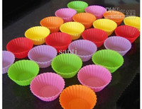 cupcake cake boxes - Round shape silicone jelly baking mold cm muffin cup cake cups cupcake