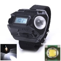 Wholesale Waterproof LED Light Wrist Watch Flashlight Lumen SOS Outdoor Camping Emergency Tactical Watches LED Lighting Lamps SP LW W