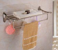 antique brass shelf - Wall Mounted Antique Brass Towel Shelf Foldable Towel Rack Holder W Towel Bar