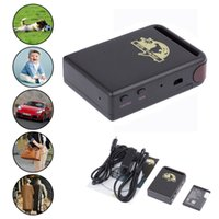 Wholesale Full Accessories Mini Car Vehicle GPS GSM GPRS Tracker TK102 Mini Global Real Time bands Tracking Device Support TF Card