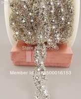bag trimmings - cm pack luxurious rhinestone bridal trimmings chain sewing on crystal motif for women dress gown bags decoration