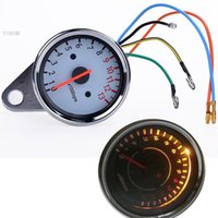 Wholesale Freeshipping Universal Motorcycle Tachometer Gauge Odometer Speedometer Rev Meter Back Light SV07