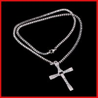 christian - The Fast and the Furious necklace Toledo Crystal Christian cross Pendant Necklaces Jesus charm movie jewelry for Christmas gift