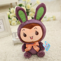 > 3 years old article board - Creative gifts The small white rabbit plush toys children doll wedding furnishing articles On board doll Sweet gift
