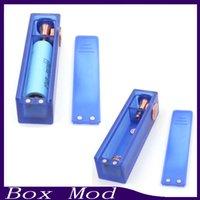 Vapor ABS Mod Box Acrílico claro mecânico Mod eCig 510Thread mods Vape transparentes Fit dupla 18650 vaporizador DHL 0.207.562