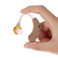 Wholesale Pro Ear Health Care Digital Sound Amplifier Mini Behind Ear Hearing Aid With Carriage Case Earhook Button Batteries Hearing Aid