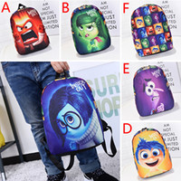 Wholesale 2pcs Inside Out backpacks cartoon printed children school bags Sadness Fear Joy Disgust Anger backpack for kids christmas gift HX